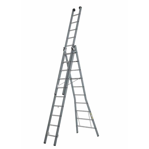 Dirks 3 delige opsteekladder 3x14 reform A-stand ongecoat